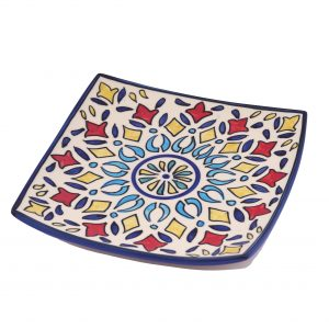 ceramic square snack plates