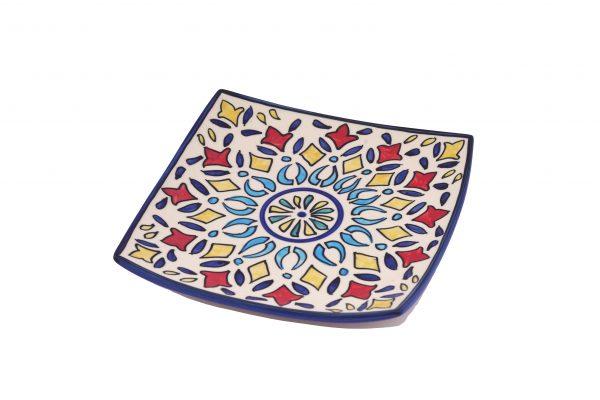 ceramic square snack plates