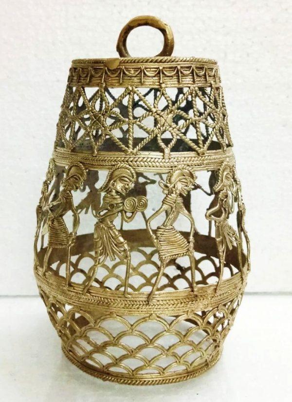 Dhokra Metal Decorative Lamp Shade Circular
