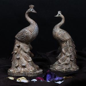 Pair of Peacock for Love and Better Understanding Figurine Home Decor Statue
