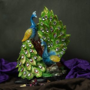 Pair of Peacock Decoration Showpiece