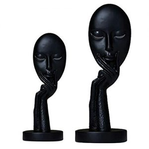 Black Lady Statue for Home Decor