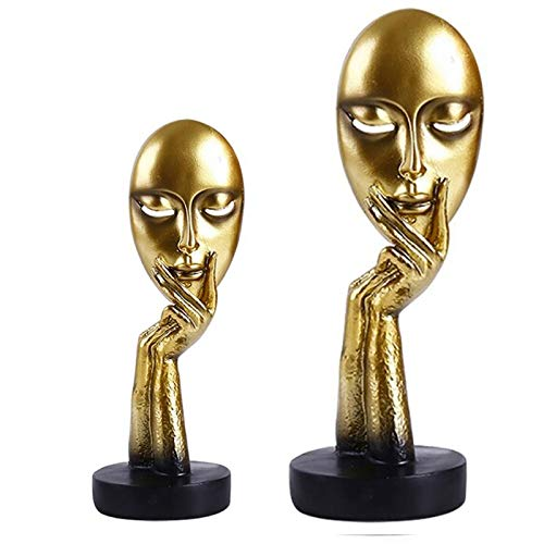 Black Lady Golden Statue for Home Decor